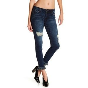 STS Blue Emma Ankle Messy Frayed Skinny Jeans